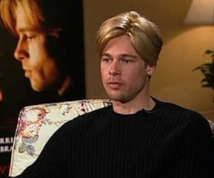 actor, brad pitt, and funny image