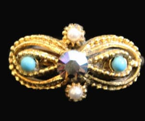 aurora borealis, pearl ring, and 1960's jewelry image