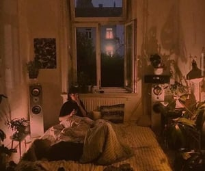 grunge, night, and room image