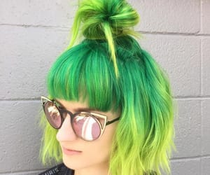 alternative, dyed hair, and green hair image