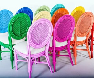 chairs, colorful, and colors image