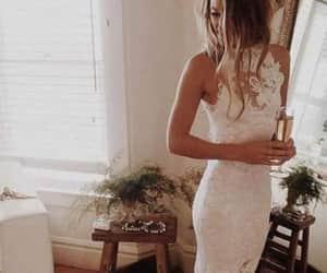 dress, wedding dress, and weddings image