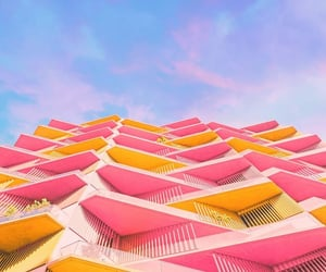 architecture, building, and colorful image