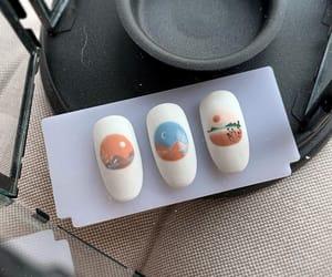 minimal art, gel nails, and acrylic nails image