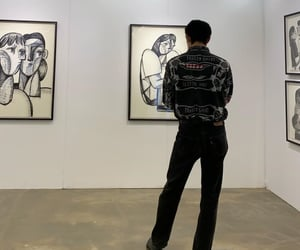 art, date, and guys image