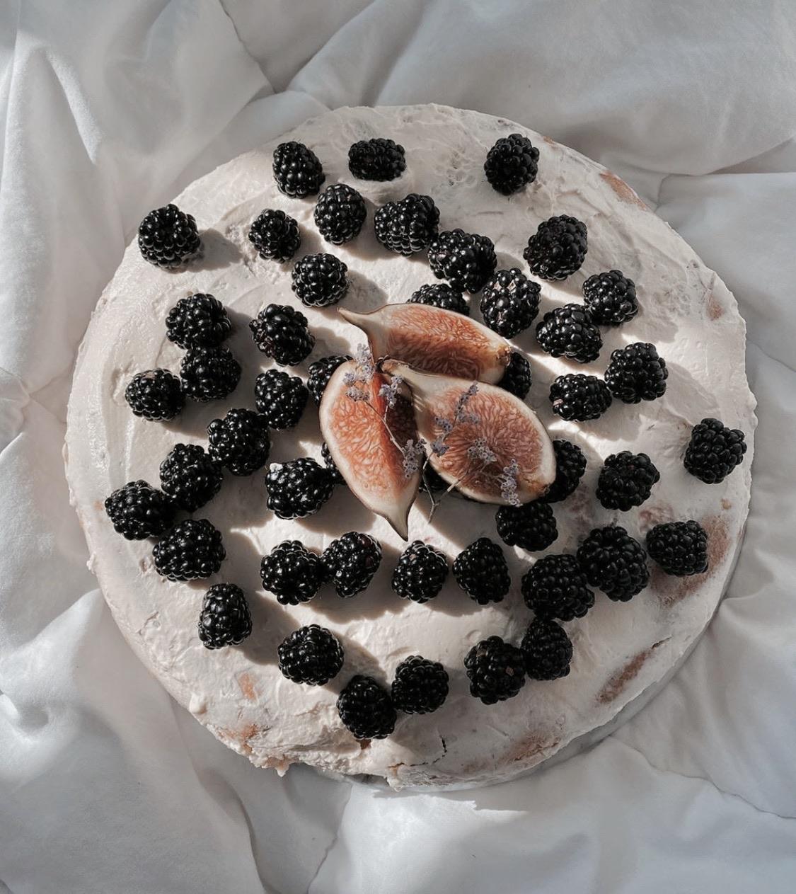 blackberries, cake, and dessert image