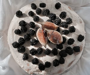 blackberries, cake, and dessert image