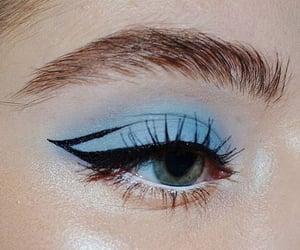 makeup, eyeliner, and blue image