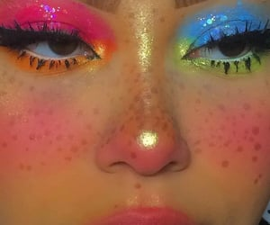 colorful, makeup, and inspo image