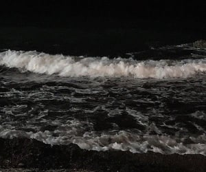 dark, black, and sea image
