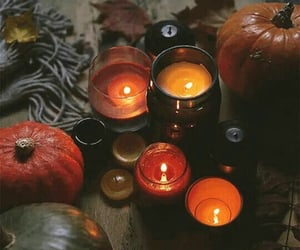 autumn and candles image