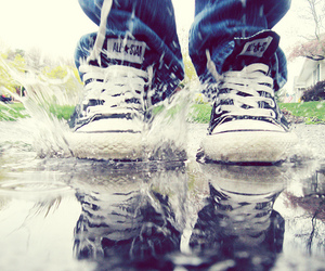 all star, converse, and water image