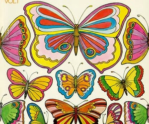 70s, art, and butterfly image