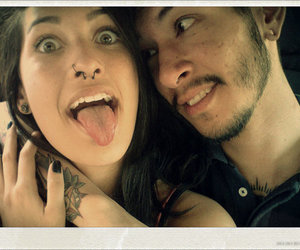 boy, girl, and piercing image