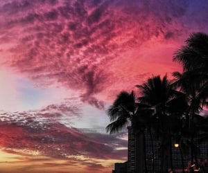 pink, sky, and sunrise image
