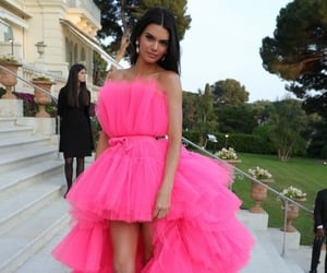 celebrities, fashionable, and pink dress image