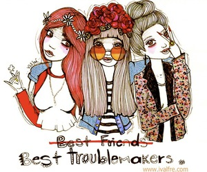 friends, best friends, and troublemaker image