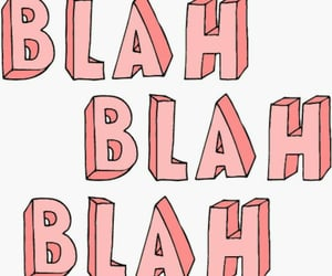 blah and words image