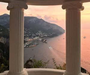 travel, sunset, and view image