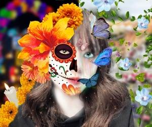dia de muertos, Halloween, and catrina image