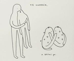 amor, me gustas, and dibujitos image