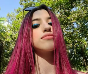 eyeliner, nature, and blue eyeliner image