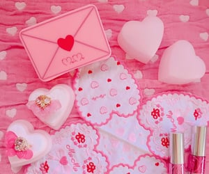 aesthetic, hearts, and love letter image