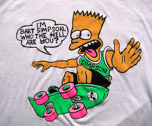 bart simpson, tv, and hell image