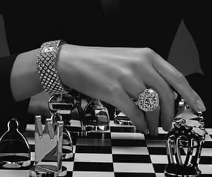 chess, woman, and black and white image