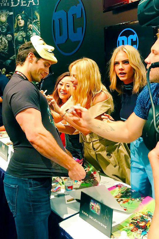 DC, margot robbie, and Henry Cavill image