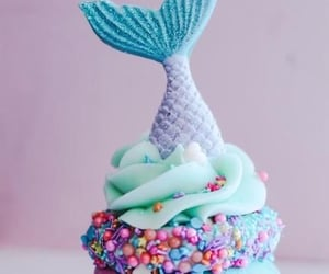 aquarium, cupcake, and mermaid image