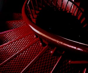 burgundy, staircase, and stairs image
