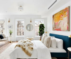 bedroom, brownstone, and decor image