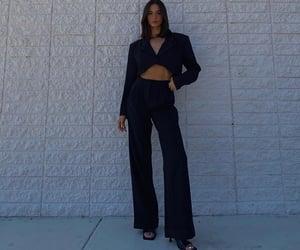black heels, outfit inspiration inspo, and black crop blazer image