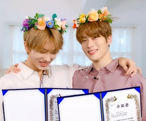 boys, flower crown, and kpop image