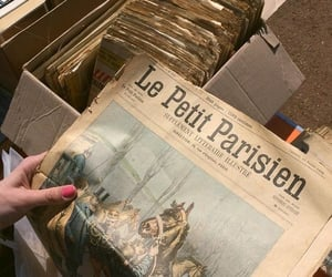 aesthetic, newspaper, and france image