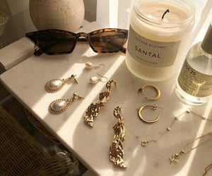 accessories, gold, and sunglasses image