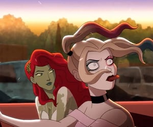 harley quinn, poison ivy, and harlivy image
