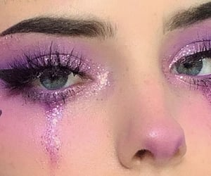 makeup, aesthetic, and purple image
