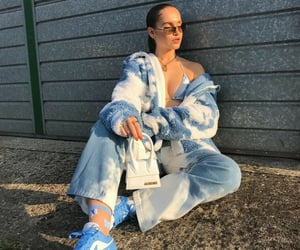blogger, blue and white, and fashion image