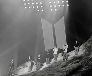 black and white, k-pop, and bts image