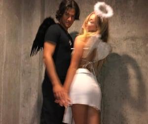 couple, angel, and Halloween image