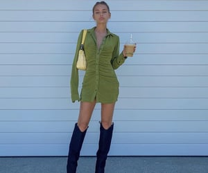 knee high boots, fashionista fashionable, and outfit of the day ootd image