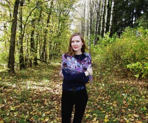 autumn, hair, and photography image