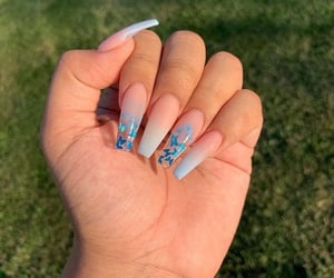 nails, transparent, and ombre image