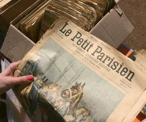 aesthetic, newspaper, and paris image