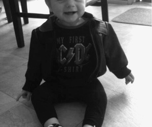 baby, ACDC, and rock image