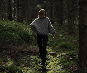 autumn, fashion, and forest image