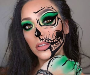 make up, beauty, and green eyeshadow image