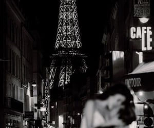 black and white, love, and paris image